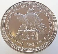 Мэн 1 крона 1978 - 25 лет коронации Королевы Елизаветы II