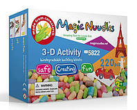 Конструктор, развивающие игрушки, Magic Nuudles, 220 деталей, мягкий конструктор, развивающий конструктор