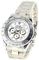 Мужские наручные серебряные часы Rolex Daytona