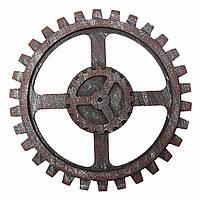Промышленный стиль Деревянный редуктор настенный декор Античная домашняя паб-бар Висячий художественный декор 24 см