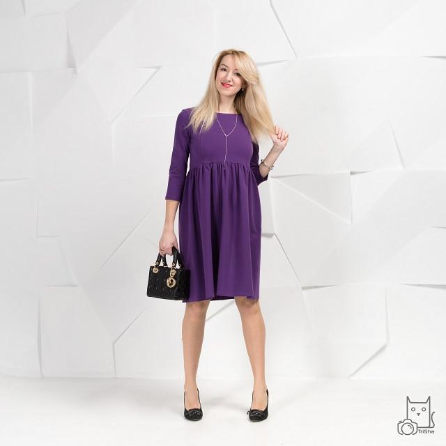 Платье Baby-Doll для беременных и кормящих мам HIGH HEELS MOM (фиолетовый, размер S/M)