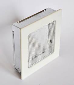Решетка каминная 17х17 белая, вентиляционная для камина, декоративная