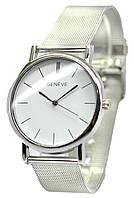 Женские кварцевые часы Geneva Серебро