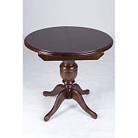 Стол обеденный круглый Анжелика  90(+38) орех