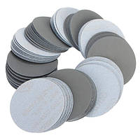100шт 3 дюйма 3000 грит шлифовальных дисков Self клей смешанной зернистости шлифовальной шкуркой для полировки