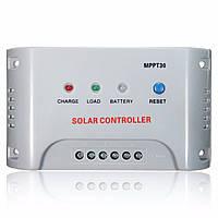 MPPT30 20/30a 12v/24v MPPT регулятор панели солнечных батарей контроллер заряда LED Индикатор для ФВ