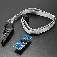 SOP8 SOIC8 Испытательный зажим с кабелем для программирования EEPROM 93CXX / 25CXX / 24CXX In-Circuit