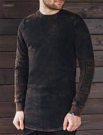 Лонгслив мужской (футболка с длинным рукавом) Staff breeze black