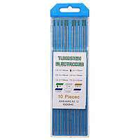 10pcs 175x2.4mm Wp зеленый сварка вольфрамовым электродом сварочные электроды