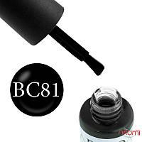Гель-лак Naomi Boho Chic BC 81 (черный, эмалевый, плотный), 6 мл