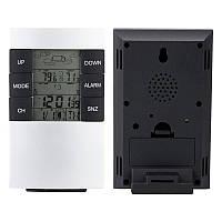 TS-H146 Беспроводная метеостанция прогноз погоды цифровой двойной будильник наружный термометр температуры датчик влажности Измеритель вл