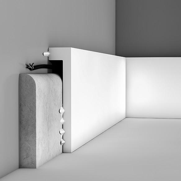 Плинтус, накрывающий плинтус Orac Decor  SX171, 200 x 10 x 2.2 cm