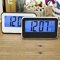 LCD Дисплей Цифровой будильник Часы Звук, контролируемый с помощью Термометр подсветка Snooze