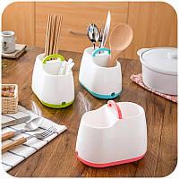 Портативные палочки для еды хранения клетка ложка столовые приборы кухонный бокс стойку дренажи организатор