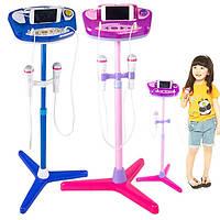 Регулируемая подставка с 2-мя микрофонами Karaoke Music Toys для детей