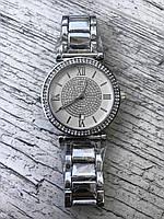 Женские наручные серебряные часы с камнями MICHAEL KORS