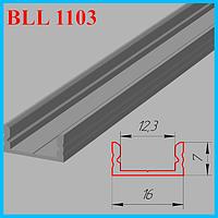 Алюминиевый профиль под светодиодную ленту 3,0 м. Серебро