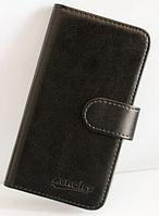 Кожаный чехол-книжка для Prestigio MultiPhone 5517 DUO черный