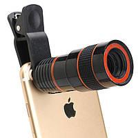 8X HD360 камера Объектив с телескопом для увеличения клипа для Samsung S8 Xiaomi 6 iPhone 7-1TopShop