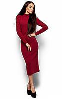 Довге бордове тепле плаття Linda (S-M, M-L)