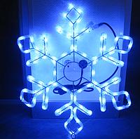 Новогодняя гирлянда-фигура HOLIDAY Снежинка 60см синяя