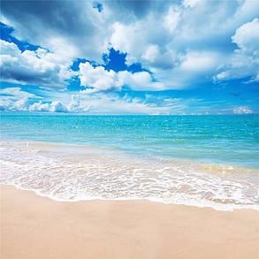 5x7Ft Винил Пляжный Синий Sky Летняя студия Фотография Фон Фото Фон Реквизит, фото 2