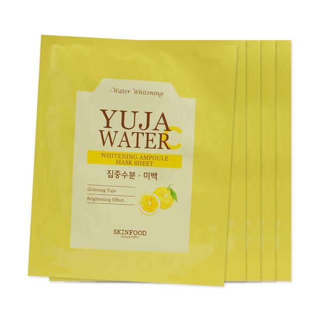 SkinFood Yuja Water Whitening Ampoule Mask Sheet
