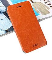 Кожаный чехол книжка MOFI для Samsung Galaxy Note 5 N920 коричневый