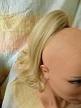 Хвост двухсторонний волнистый на крабе пшеничный блонд 3746-15ВТ613, фото 2