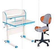 Парта-трансформер для школьника FunDesk Pensare Blue + LST3 Orange-Grey