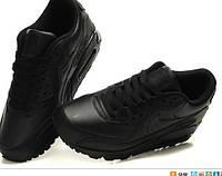 Кроссовки для бега NIKE AIR MAX 90 Найки аир макс 90 полностью черные кожа