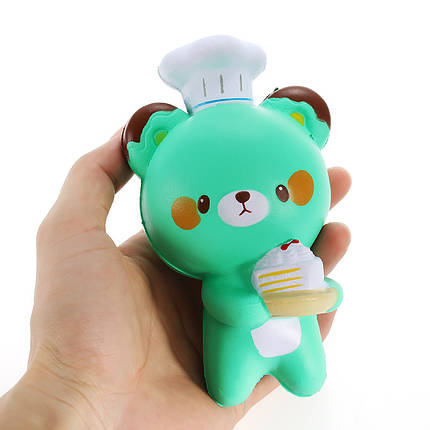 Squishy Bear Baker Chef Jumbo 14см Медленный рост Коллекция подарков Декор Мягкая игрушка, фото 2