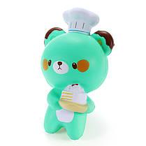 Squishy Bear Baker Chef Jumbo 14см Медленный рост Коллекция подарков Декор Мягкая игрушка, фото 3