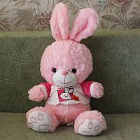 """Музыкальная мягкая игрушка """"Заяц розовый"""""""