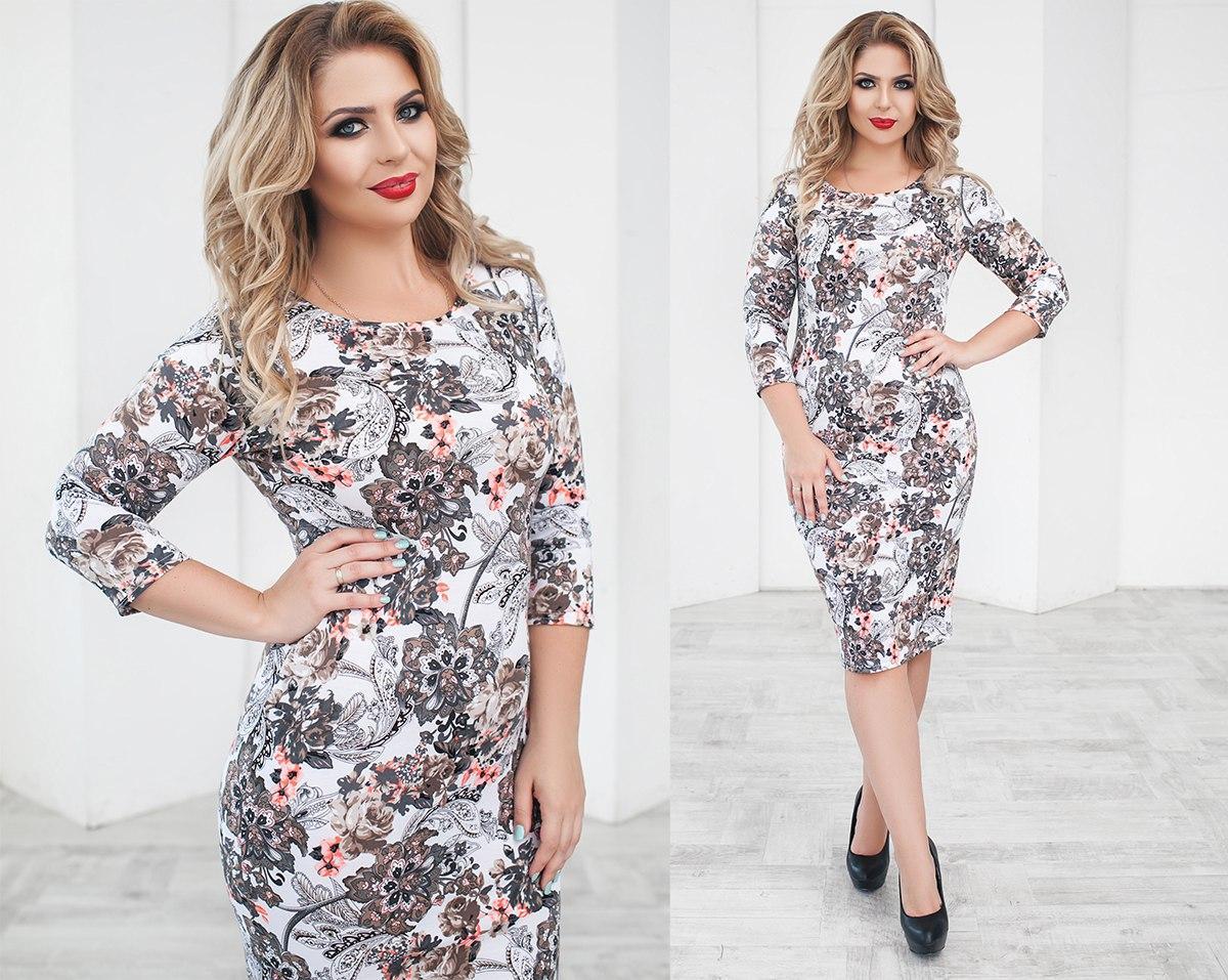 купить платья с длинным рукавом 54 размера