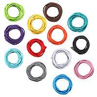 5м цвета поделки твист плетеный ткани гибкий кабель провод шнура год сбора винограда электрический свет лампы