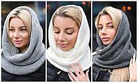 Модная женская шапка-снуд в расцветках / Украина / вязка, фото 1