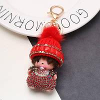 Брелок Мончичи в шапочке красный (006543)