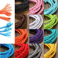 3m цветные поделки твист плетеный ткани гибкий кабель провод шнура год сбора винограда электрический свет лампы
