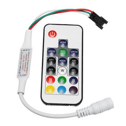 DC5-24V RF Mini Wireless LED RGBW-контроллер с 17 ключами Дистанционное Управление для W2811 W2812 Strip Light, фото 2