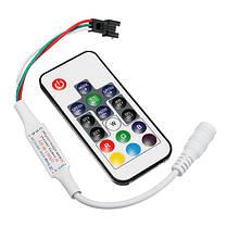 DC5-24V RF Mini Wireless LED RGBW-контроллер с 17 ключами Дистанционное Управление для W2811 W2812 Strip Light, фото 3