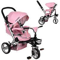 Детский трехколесный велосипед Turbo Trike M AL3645-10 колеса EVA цвет розовый