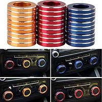 3шт / набор автомобилей ALU декоративные ручки кольцо ручки кондиционер кольцо для нового Sagitar 2012-2014 гольф 6