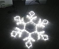 Новогодняя гирлянда-снежинка HOLIDAY Snowflake 79см белая