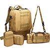 Тактический Штурмовой Военный Рюкзак с подсумками на 50-60литров хаки, фото 2