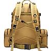 Тактический Штурмовой Военный Рюкзак с подсумками на 50-60литров хаки, фото 3