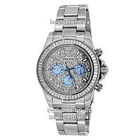 """Часы Rolex Daytona """"Swarovski"""" 36mm (механика) Silver/Grey. Класс: ААА."""