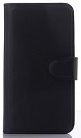Кожаный чехол-книжка для Lenovo A516 черный
