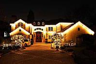 Светодиодные гирлянды для фасада, уличные гирлянды Нео Неон на елку, деревья, новогоднее оформление домов