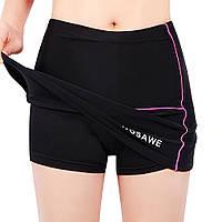 Wosawe женские мини-юбки MTB велосипед шорты с юбкой дышащей силиконовой прокладки для езды на велосипеде верхом